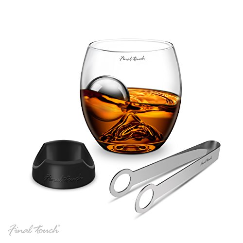 Final Touch On The Rock Glass Stainless Steel Edition 4-Piece Set (Best Alcohol On The Rocks)