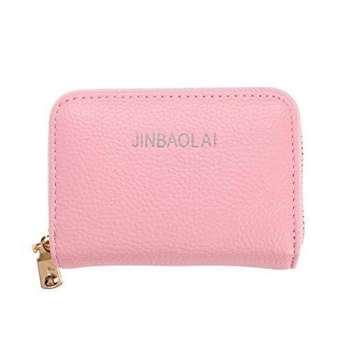 Alimao Men's Wallet Leather Credit Card Holder RFID Blocking Zipper Thin Pocket Clearance sale ()