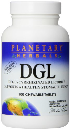 Planetary Herbals DGL Licorice Tablets, 100 Count