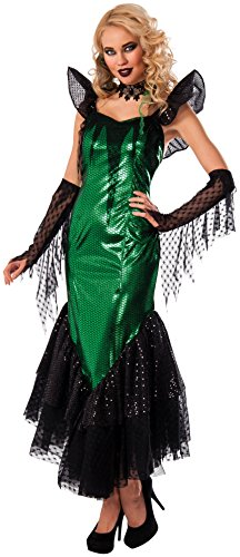 Rubie's Costume Co Women's Gothic Mermaid Costume, Green/Black, Standard