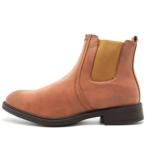 London Footwear ,  Herren Chelsea Boots Hellbraun