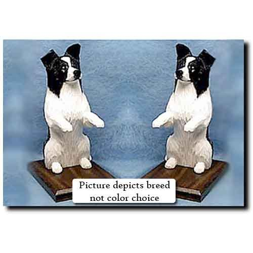 Michael Park Border Collie Bookends RED