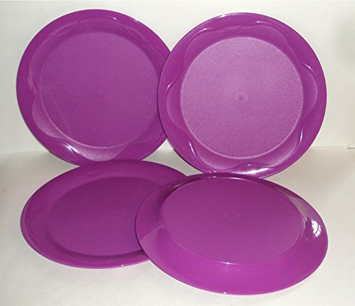 Tupperware Open House Floresta 11 Inch Round Plates Berry Purple