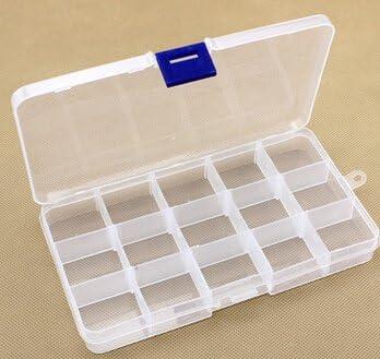 Marca nueva 17,3 * 9,8 * 2.2 cm caja de aparejos de pesca de plástico with15 compartimento extraíble para pesca con mosca caja Peche Carpe accesorios pesca gancho caja azul: Amazon.es: Hogar
