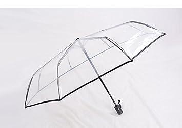HAN-NMC Paraguas Paraguas Paraguas Transparente Completamente automático