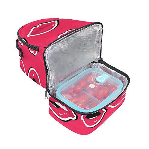 Alinlo el de de correa para la Bolsa para hombro pincnic ajustable con almuerzo escuela aislada r8rqF5