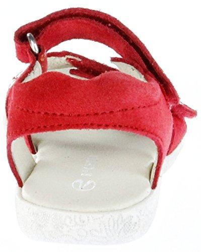 Richter Kinder Sandaletten Rot Velourleder Klett Mädchen-Schuhe 5005-731-4110 Sissi Rot