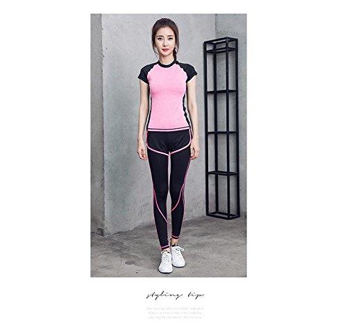 Jolie PU&PU Damen Sport Hohe Bund Leggings Sport Gym Outfits Set 2 Stücke Set T-Shirt & Lange Hose B078936HHK Socken Einfach zu bedienen