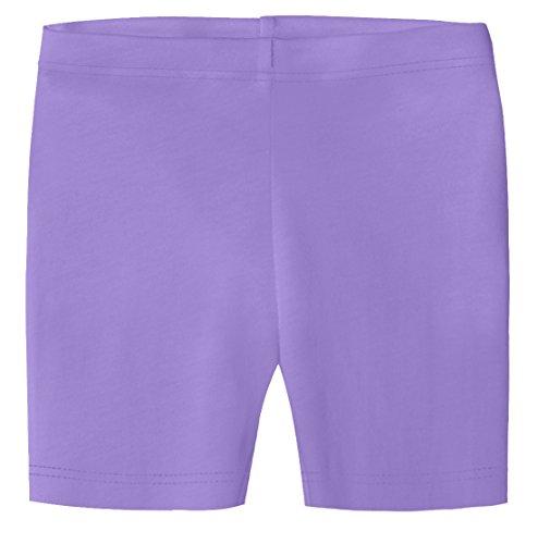 City Threads Little Girls Organic Cotton Underwear Bike Shorts for Sensitive Skin or SPD Sensory Friendly, Deep Purple, 5