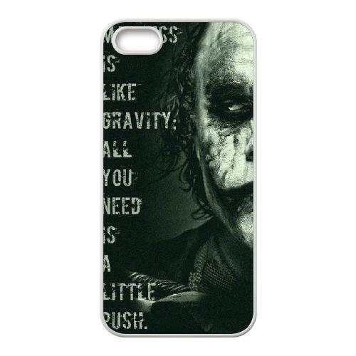 Batman coque iPhone 5 5S Housse Blanc téléphone portable couverture de cas coque EBDOBCKCO10054