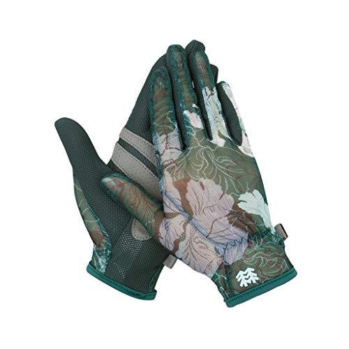 予備ペンペルセウスLIZHIQIANG 手袋、レディースグローブ、通気レジャーアウトドア手袋、登山に適してピクニック乗馬秋(緑、ピンク) (色 : Green)