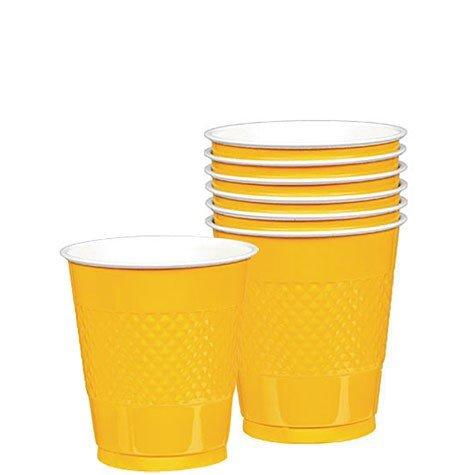 Plastic Cups   20ct (12oz, Yellow Sunshine)
