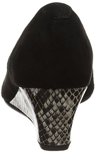 Hanover Mujer Alpargatas Para black Dal powder Suede Snake Black Van 7w5pq5