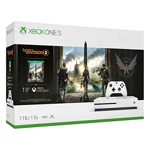 Xbox One S 1TB Console – Tom Clancy's The Division 2 Bundle