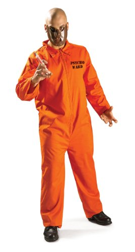 Rubie's Psycho Ward Inmate, Orange, One Size Costume ()