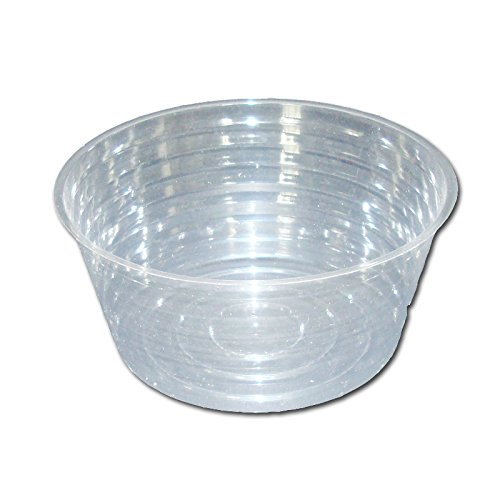 Six Pack of Deep Crystal Clear Plastic Saucers