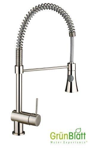 Edelstahl armaturen küche  Küche Armatur mit Geschirrbrause Küchenarmatur Einhebelmischer ...