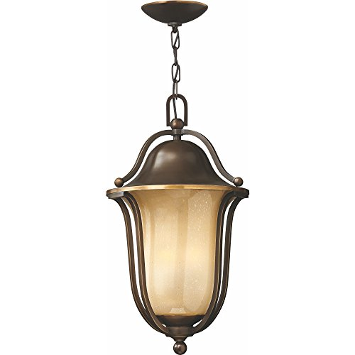 Hinkley 2632OB-GU24 Traditional One Light Hanging Lantern from Bolla collection in Bronze/Darkfinish, - Bolla Collection Outdoor Lantern
