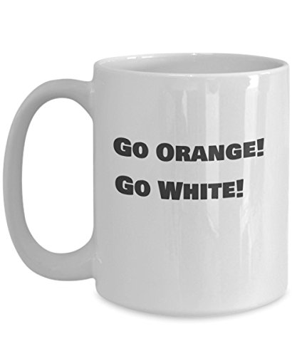 Gift mug for Texas Longhorns University of Texas at Austin Fans Go Orange Go White to show loyalty and school spirit for your team ()
