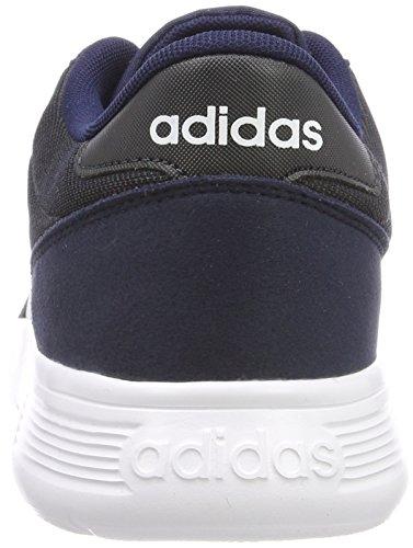 adidas Unisex-Kinder Lite Racer K Gymnastikschuhe, Grau Blau (Collegiate Navy/ftwr White/carbon S18)