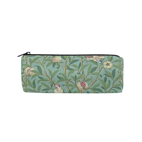 Stationery Folding Cartons - Pencil Case Bird & Pomegranate Zippered Pencil Box Round Stationery Bag Makeup Cosmetic Bag for Women/Students