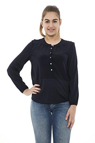 Woolrich Shirt Ns90 Wwcam0655 Donna Silk Blusa Blu Jersey z7qxfgzwSF