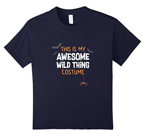 Kids Awesome Wild Thing Costume Shirt, Funny Cute Halloween Gift 12 Navy