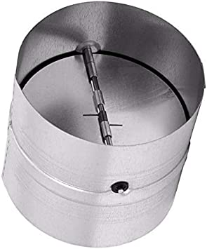 Draft Blocker - Backdraft Damper Duct - Draft Stopper - Backflow Preventer - Inline Fan Vent - Vent Deflector (4'' Inch)