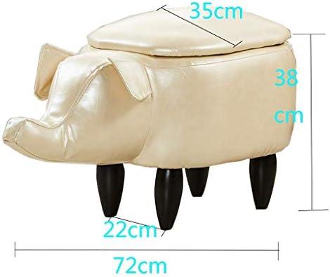 CCSU Repose-Pieds en Bois Massif Repose-Pieds canapé Rangement Banc pour Enfants Changement de Chaussures Chaise rembourré Repose-Pieds Animal Petit Tabouret Blanc