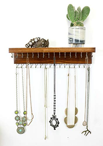 - The Knotted Wood Double Necklace Holder, Necklace Jewelry Organizer (12