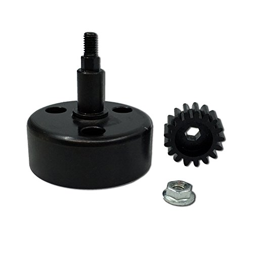 FLMLF Alloy Clutch Bell with 17T Hardened Steel Pinion Gear Upgrade Set for 1/5 RC Hpi Baja 5B 5T 5SC TOP Speed RC World 17t Steel Pinion Gear