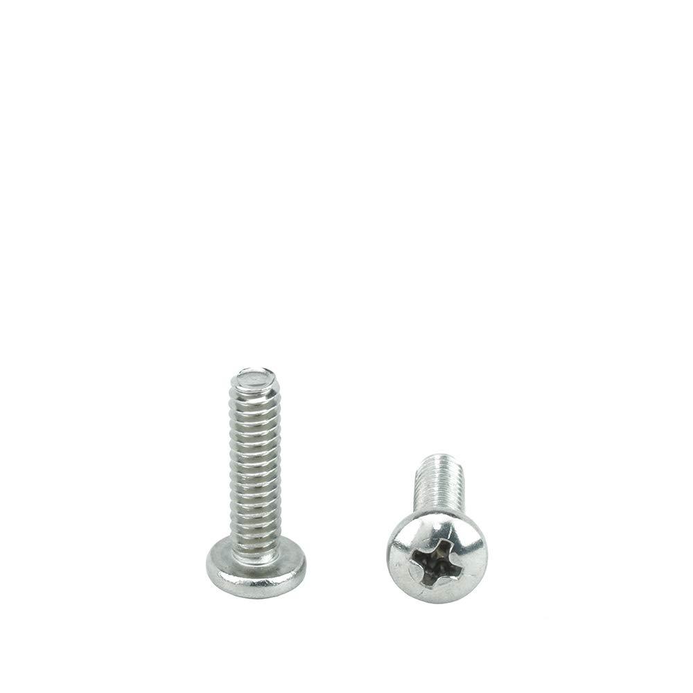 Full Thread #10-24 x 3//4 Pan Head Machine Screws Phillips Drive Bright Finish Stainless Steel 18-8 Machine Thread Quantity 25 by Bridge Fasteners