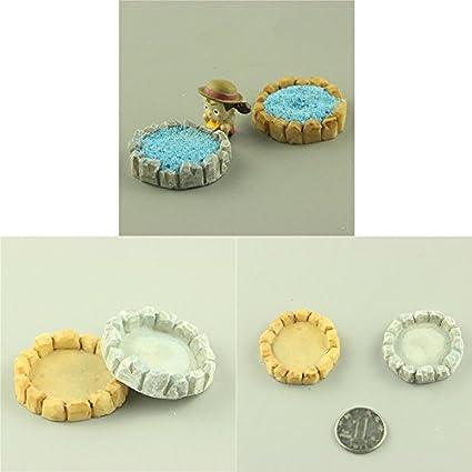 Demarkt Pool Micro Landschaft Zubeh/ör Miniatur Verzierung DIY Handwerk Puppenhaus Garten Dekoration Gelb