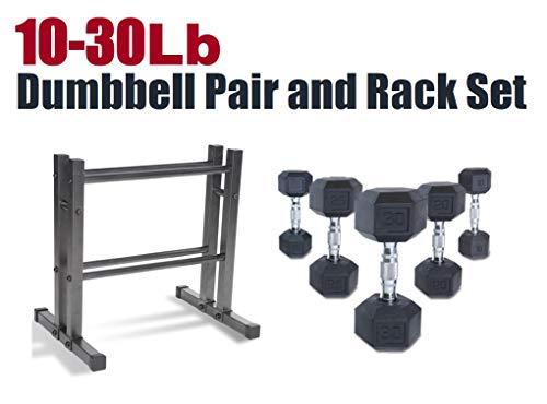 CAP Barbell SDRS-200R-3DMK Rubber Hex Dumbbell Weight Set, 200 (Best Cap Rubber Hex Dumbbells)