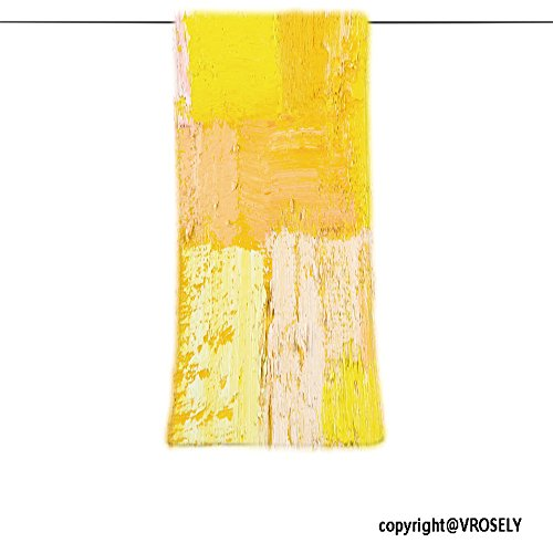 VROSELV Custom Towel Soft and Comfortable Beach Towel-abstract wallpaper texture background of an original oil yellow and beige p Design Hand Towel Bath Towels For Home Outdoor Travel Use 7.9