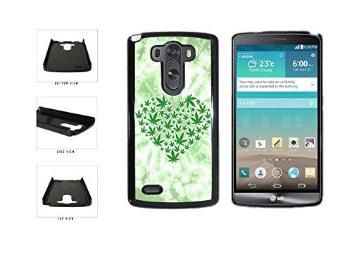 BleuReign(TM) Heart Shaped Marijuana Leaves Plastic Phone Case Back Cover LG G3 D855