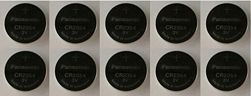 (PANASONIC BATTERIES CR2354 LITHIUM BATTERY, 3V, COIN CELL (10 pieces))