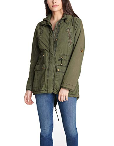 (Levi's Women's Lightweight Cotton Hooded Anorak Jacket, Army Green, X-Large)