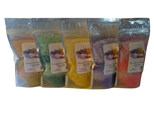 B07K7P2L5H Bath Salts - (5) 1lb Bags ~ Aromatherapy Gift Lot ~ Five Different Scents 41FMot8OIXL