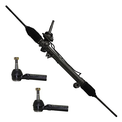 (FWD ONLY - Detroit Axle Complete Power Steering Rack & Pinion Assembly + All 4 Inner & Outer Tie Rod Ends)