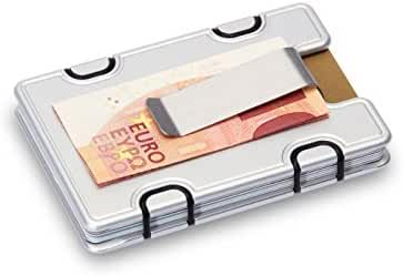 M1 Slim Wallet - Credit Card Holder with Money Clip - including RFID Blocking Technology