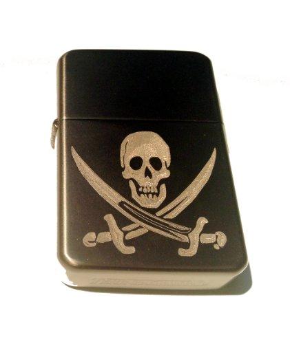 Vector KGM Thunderbird Custom Lighter - Jolly Rogers Pirate Swords Skull Logo GUN Metal Satin Polish Chrome Rare! -