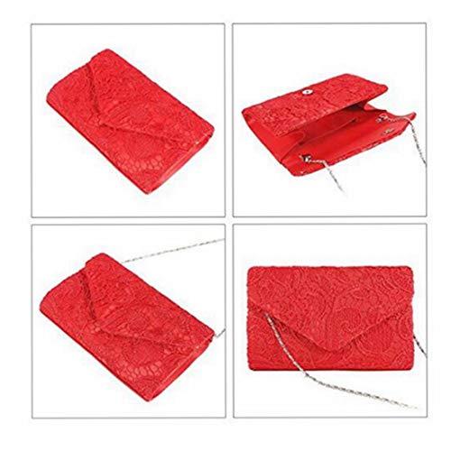 Mini Mujeres Cute Del Red Kervinfendriyun Yy4 La Tarde Small Boda De Elegante Bolso Banquete Las Embrague color Red 6Ptq7wPn
