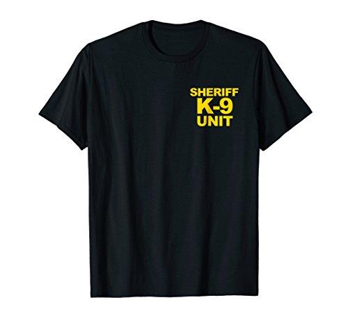 Sheriff K-9 Unit Shirt Front & Back Print Law Enforcement ()