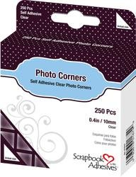 Bulk Buy: 3L Helmar Photo Corners Self Adhesive 250/Pkg 3/8'' Clear 1674 (4-Pack) by HELMAR