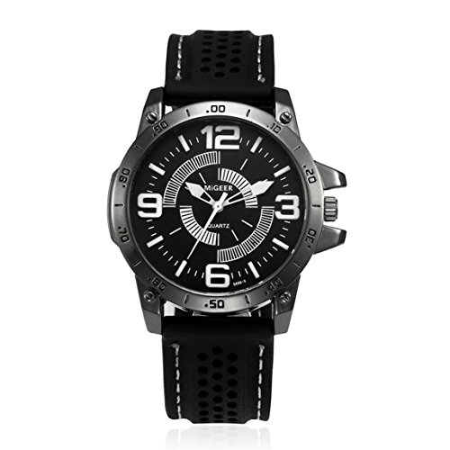 Nadition Watches Clearance !!! Men Fashion Silicone Strap Sport Cool Quartz Hours Wrist Analog Watch (White)