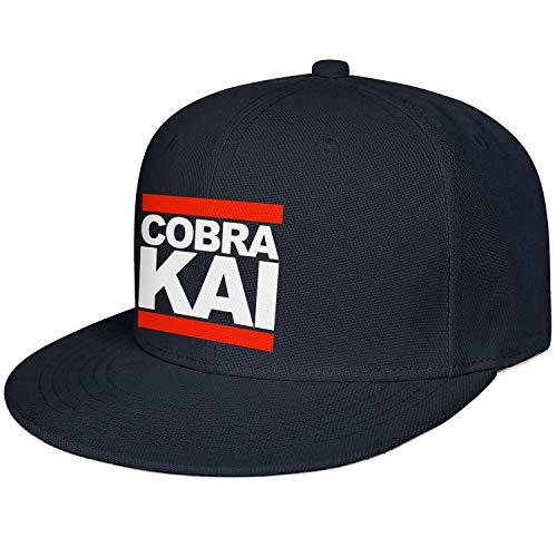 SHTHYTS Mens White-Cobra-Kai-Run-Logo-Adjustable Snapback Hat Breathable Travel Trucker Dad Baseball Caps -