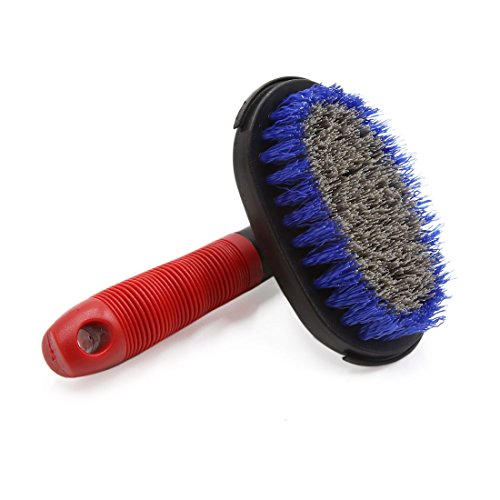 uxcell Red Plastic Handle Wheel Tire Cleaning Brush Washing Tool for Car Vehicle by uxcell