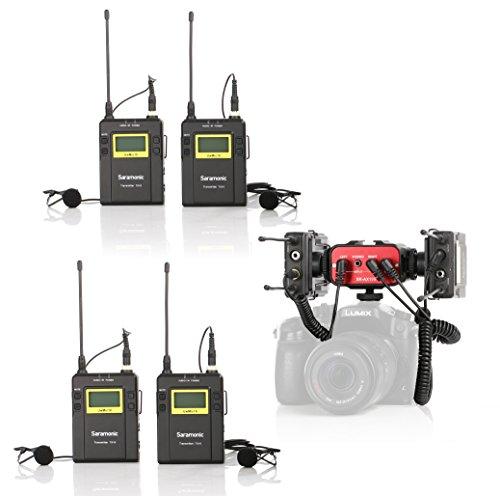 Saramonic Wireless UHF Quad Lavalier System with 4 Bodypa...
