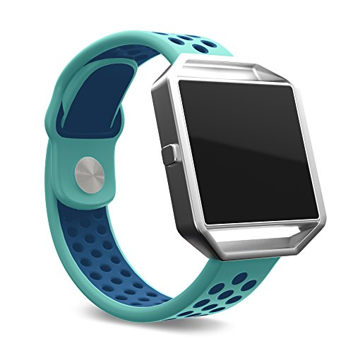 Fitbit Blaze Band, Sports Watch Bands, Small, Green and Blue Sport Style Band with a Buckle, by Teak